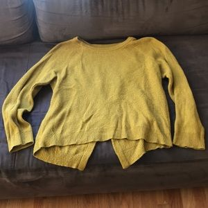 madewell province cross back pullover sweater L